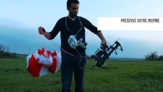 Parachute DJI Inspire 1 - Crash test - Safetech ST60-X  Opale Parachutes