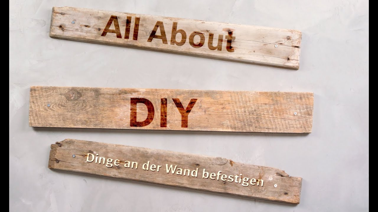 Turbo Videotutorial: So befestigst du Dinge an der Wand | All about DIY ZC11