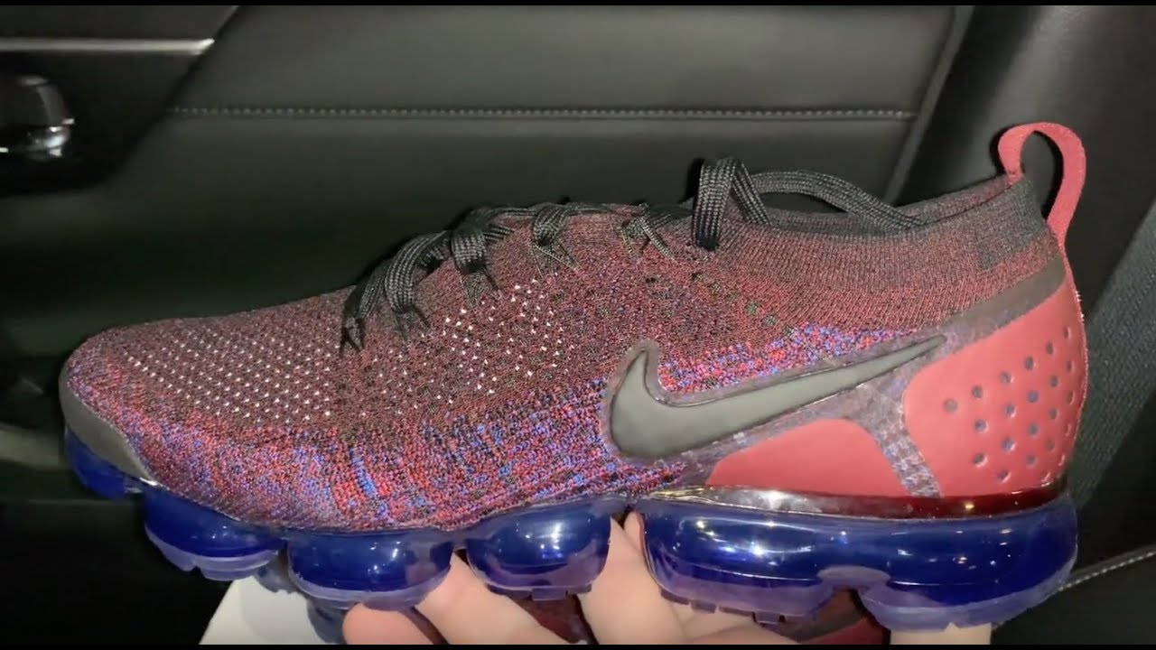 8b38172c3f6fb Nike Air Vapormax Flyknit 2 Team Red sneakers - YouTube