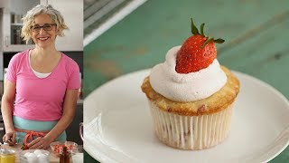 Strawberry Cupcakes with Strawberry Cream Cheese Frosting - Everyday Food with Sarah Carey