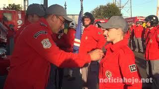Novos bombeiros voluntários são formados, em Caçador