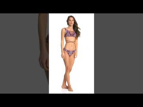 Radio Fiji Majorelle Mandala Bikini Top | SwimOutlet.com