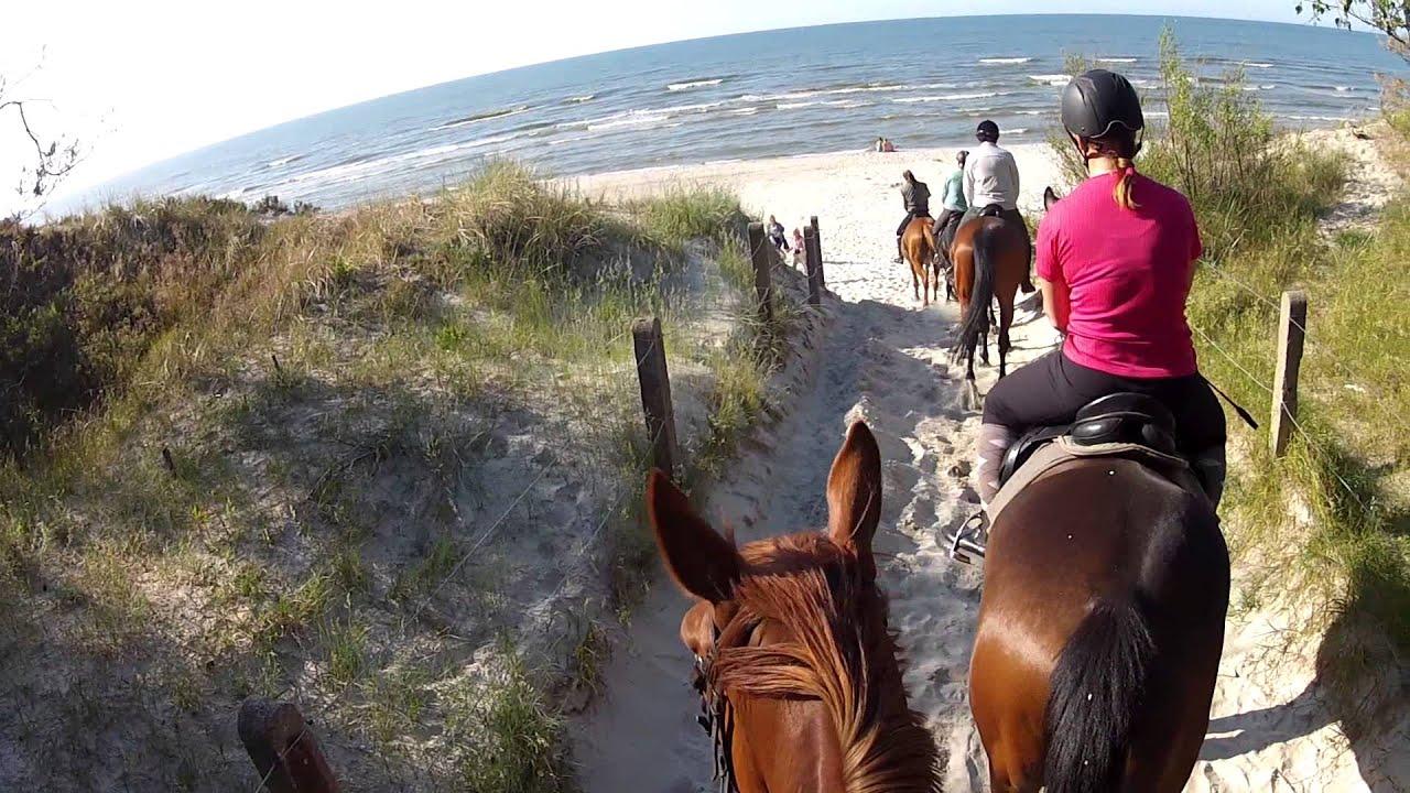 Long Version Horse Riding On The Beach In Leba Poland Gopro Hd Hero2 You