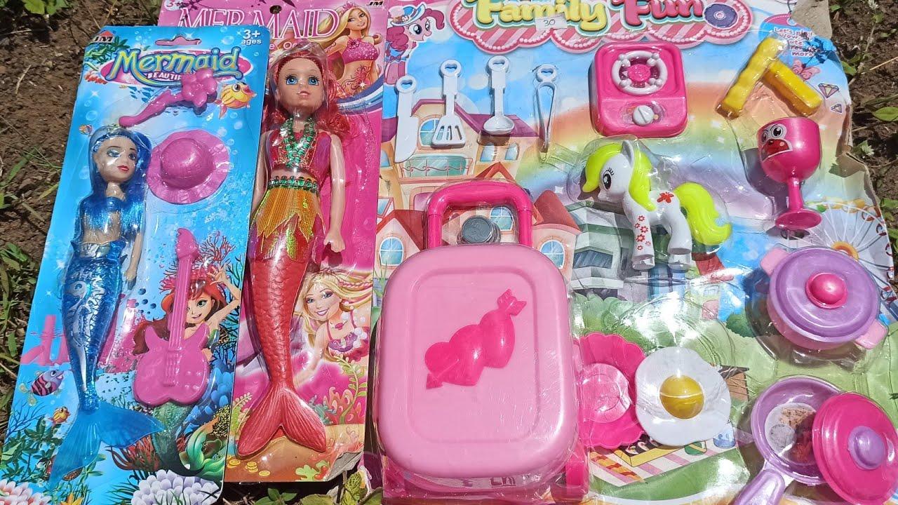 Mencari Mainan Boneka Barbie Putri Duyung Mermaid Kuda Poni Masak Masakan Es Krim Ice Cream Kue Lucu Youtube