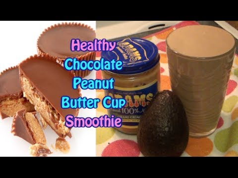 Healthy Chocolate Peanut Butter Cup Smoothie Recipe