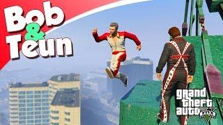 GTA V Online #55 - FRED DE STUNTMAN MET BOB EN TEUN! (GTA 5 Freeroam, Roleplay)