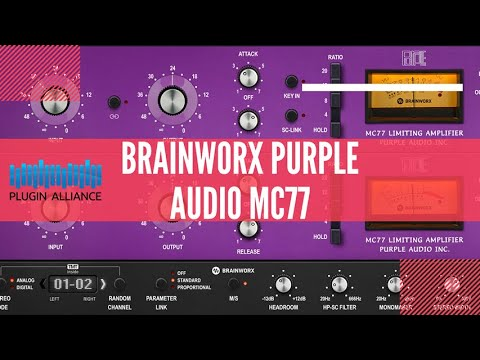 O melhor plugin de 1176 - Visão geral - Plugin Alliance Brainworx Purple MC 77