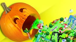 CANDY VOMIT Jack - o - Lantern! ♥ LAST MINUTE DIY