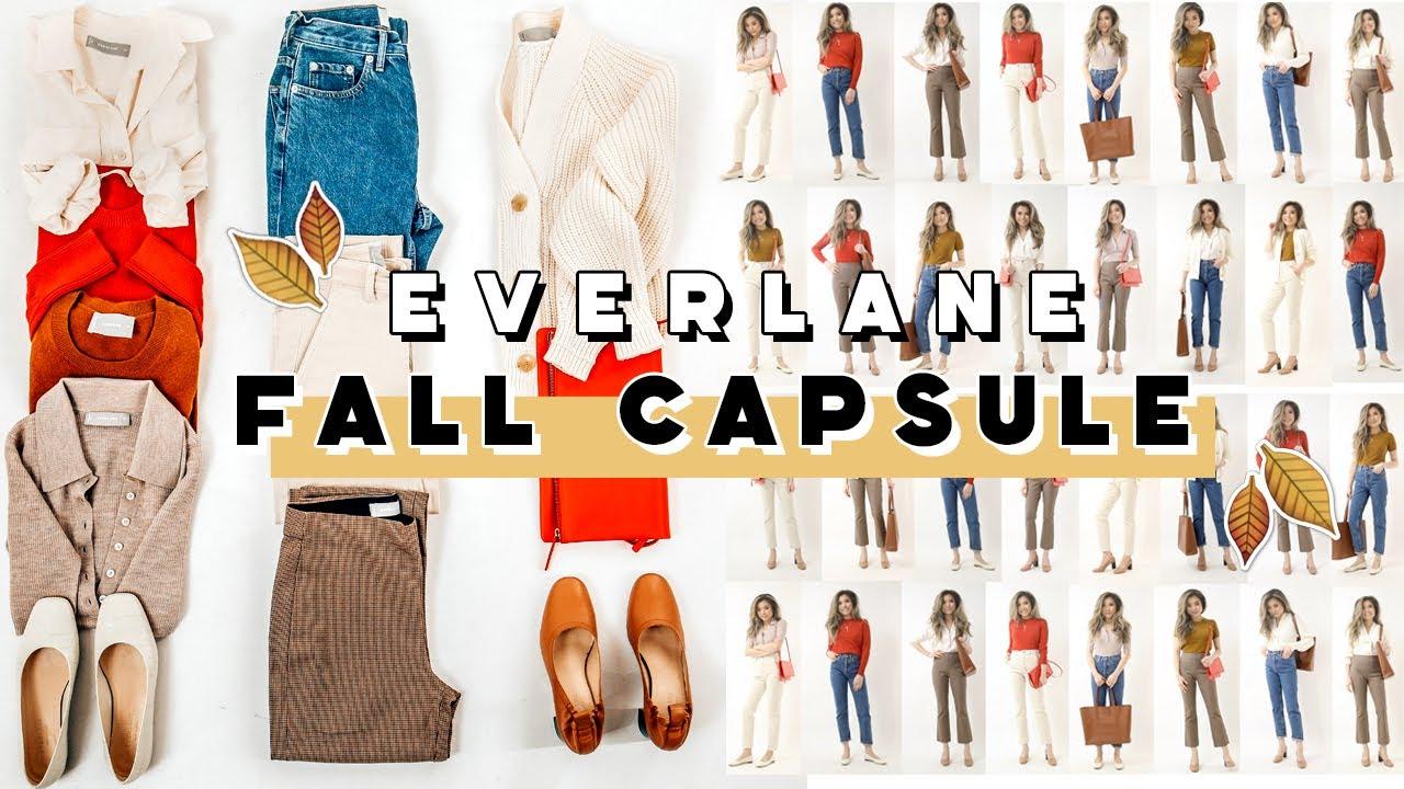 Capsule Wardrobe 2020 Fall.Everlane Fall Capsule Wardrobe 10 Items X 17 Outfit Ideas Minimalist Capsule Wardrobe Miss Louie