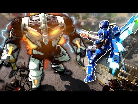 GIANT ALIEN ROBOT INVASION! - Earth Defense Force: Iron Rain Gameplay |