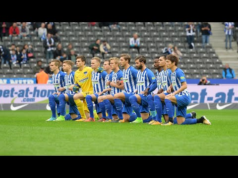 Hertha Berlin players 'take a knee' in solidarity with NFL protests