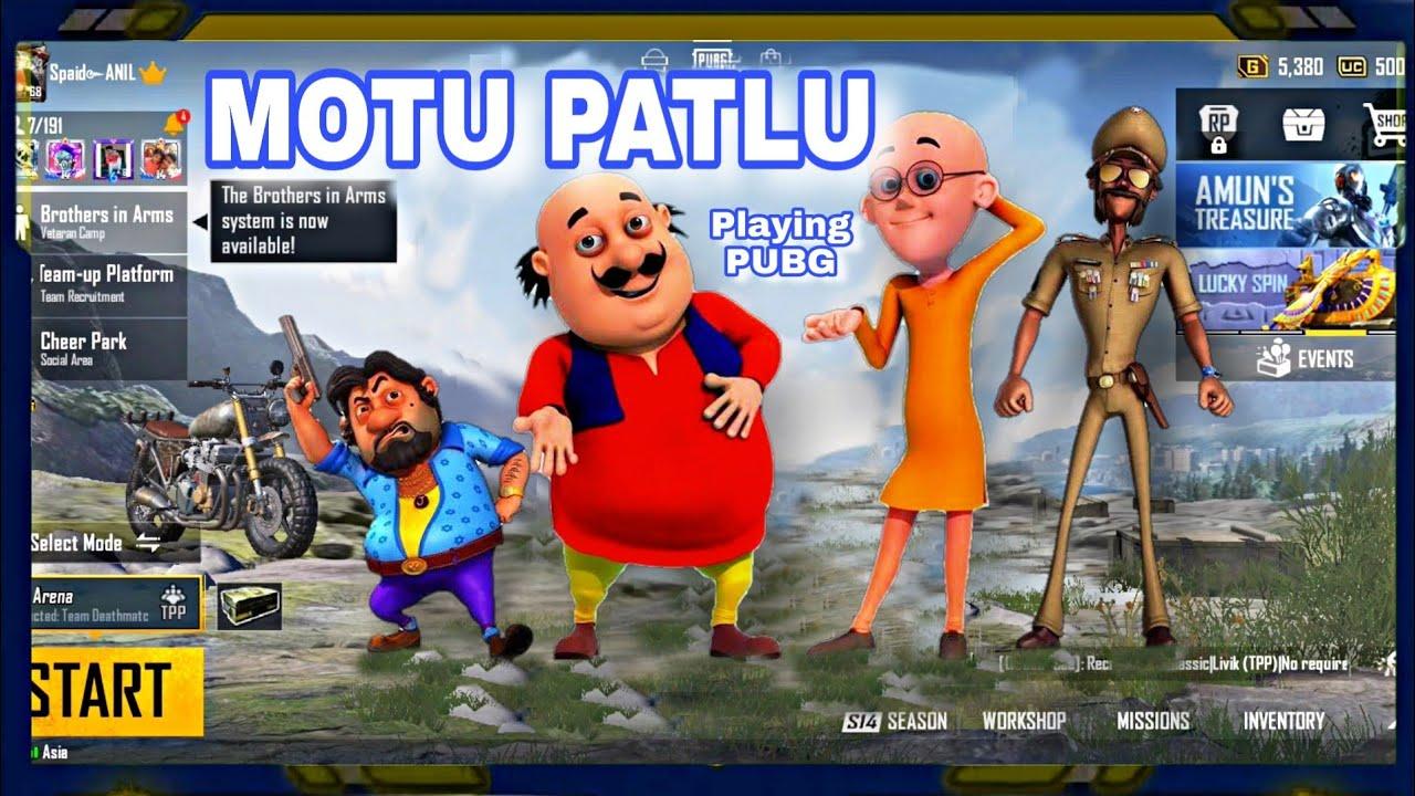 Motu Patlu Playing Pubg Mobile || Motu Patlu || PUBG MOBILE LIVE🔴 || AMAZING FACT STUDIO || ANIL