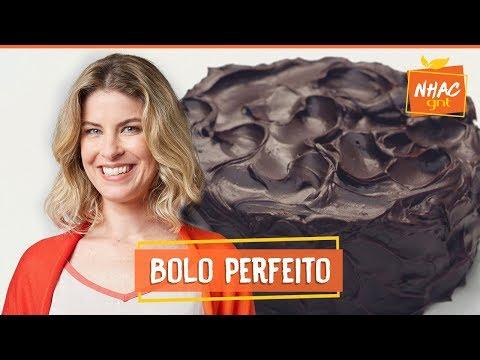 Bolo de chocolate coberto com ganache  Rita Lobo  Cozinha Prática