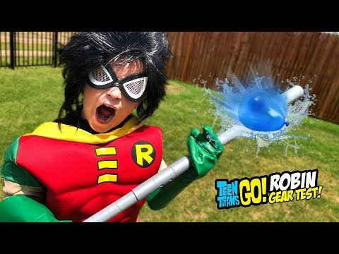 ROBIN Teen Titans Go! To the Movies Gear Test & Toys Review for Kids! - 동영상