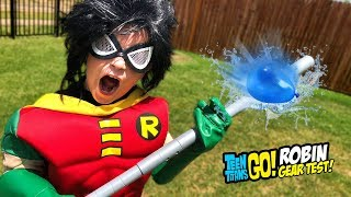 ROBIN Teen Titans Go! To the Movies Gear Test & Toys Review for Kids!