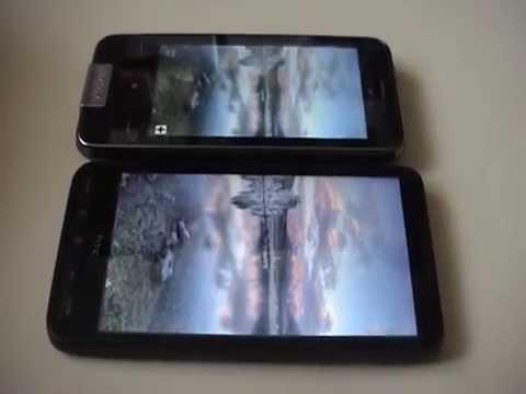 HTC HD2 vs Garmin Asus nüvifone display quality