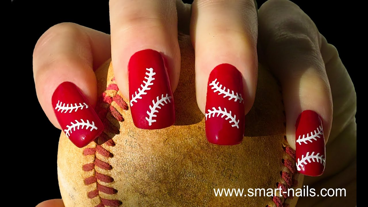 How to apply the p063 baseball nail art stencil from smart nails how to apply the p063 baseball nail art stencil from smart nails youtube prinsesfo Images