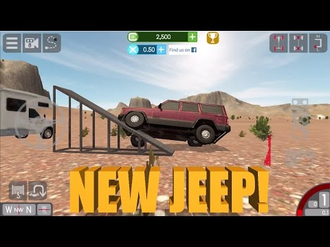 Gigabit Off-Road   OUR NEW XJ!   Mobile/iPhone Off-Roading Game Part 1