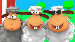 Bä bä vita lamm med mera | 26 minuter barnvisor på svenska | Busigt Lärande