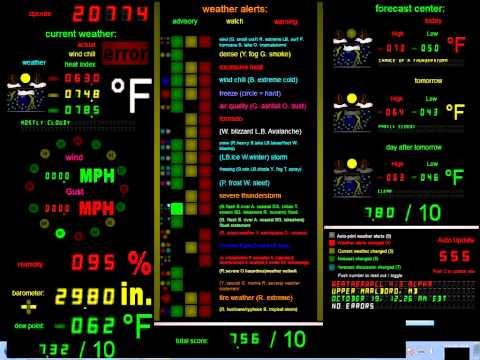Weather Wall 4.3 ALPHA demonstration - Visual Pinball