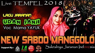 UDAN JANJI Cover Voc MAMA YAYUK - New SABDO MANGGOLO Live TEMPEL 2018