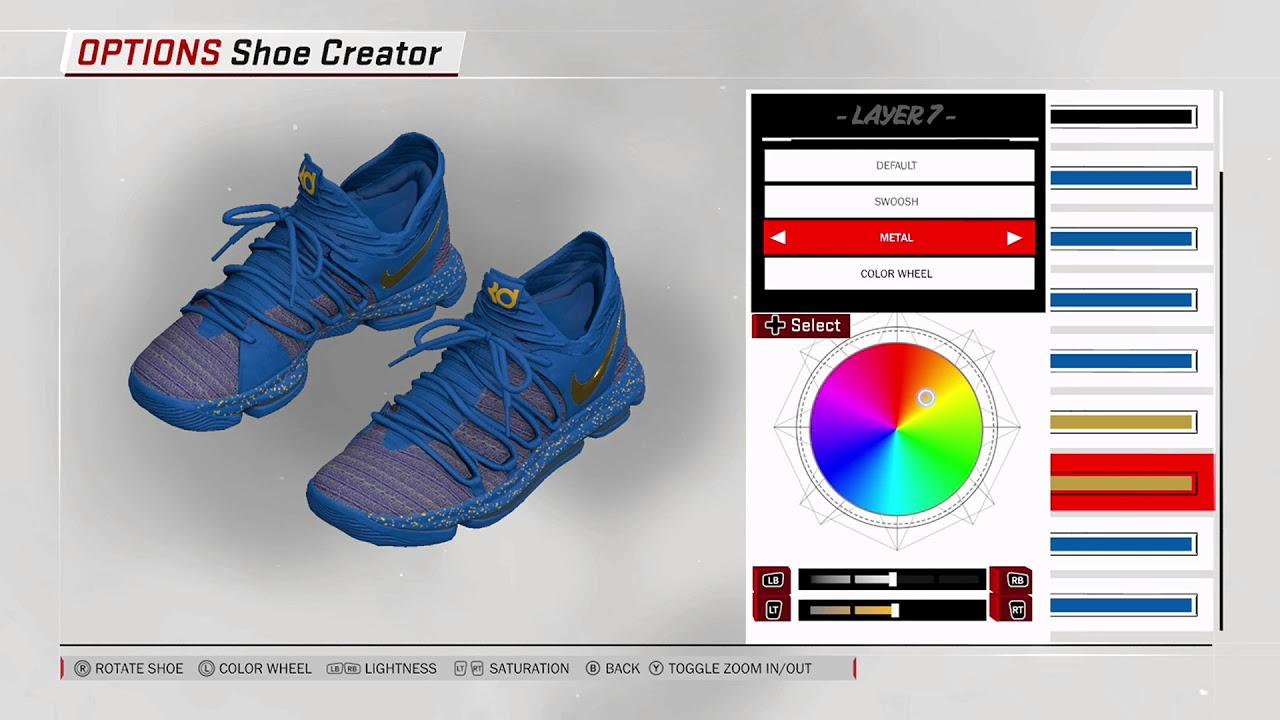cd0baf6f3597 NBA 2K18 Shoe Creator Nike KD 10