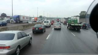 truck driver goes crazy in Toronto traffic