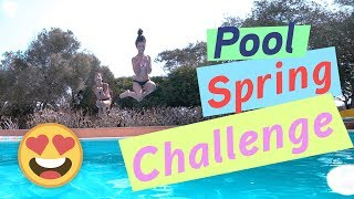 Pool Spring Challenge / Wer bekommt es besser hin? / kinder_sein / FRAU_SEIN