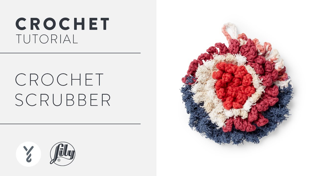Easy Crochet Scrubber   With The Crochet Crowd