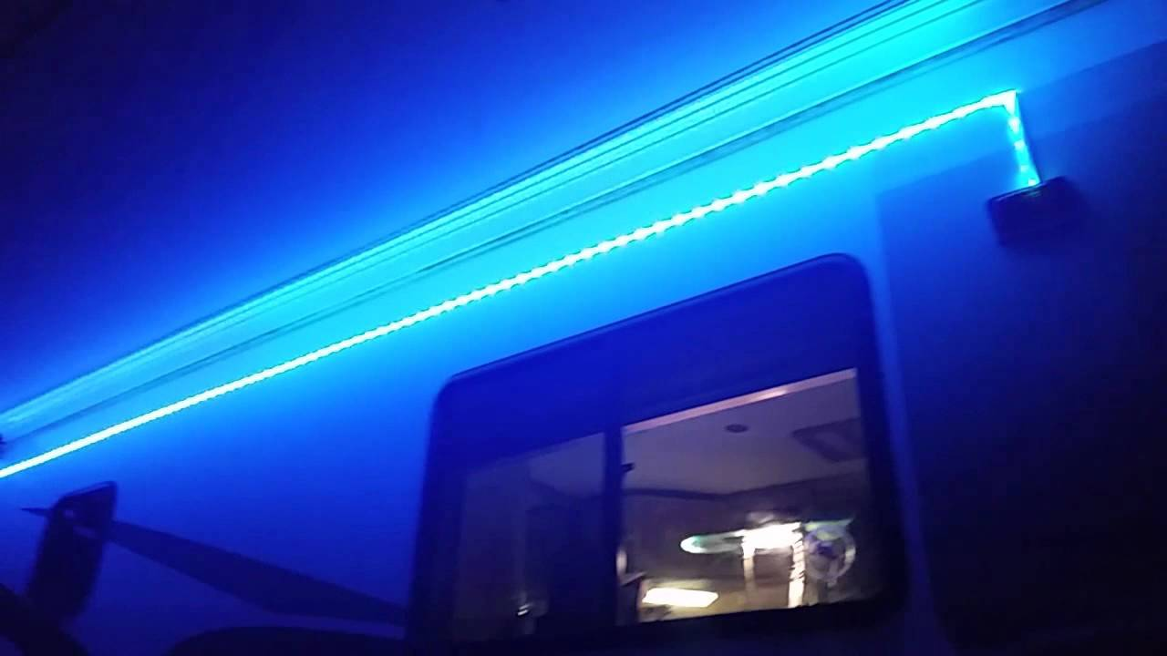 New Outside LED lights for RV Patio Area - YouTube