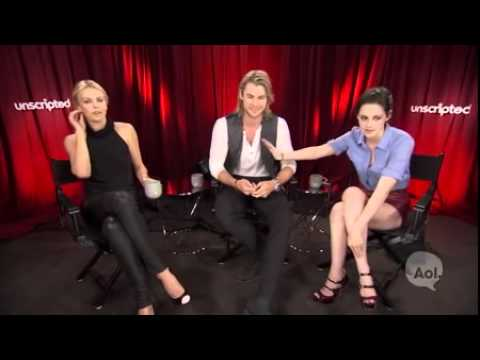 Snow White & The Huntsman Cast's Unscripted Interview ( NEW 2012)
