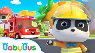 Action! Baby Panda Firefighter | Rescue Animals | BabyBus Cartoon