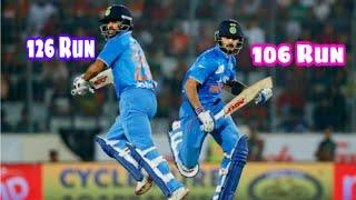 Virat Kohli and Shikhar Dhawan Good Partnership India Vs Australia ODI Match