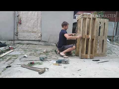 Как сделать скамью из обычных поддонов