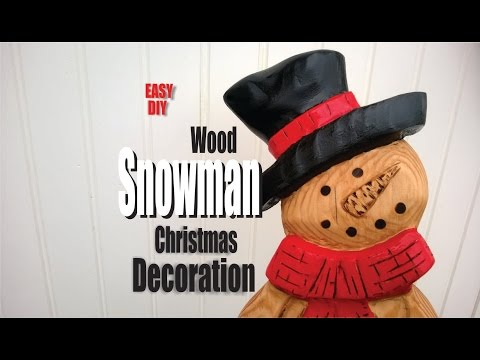 How to make a Carved wood snowman with power tools