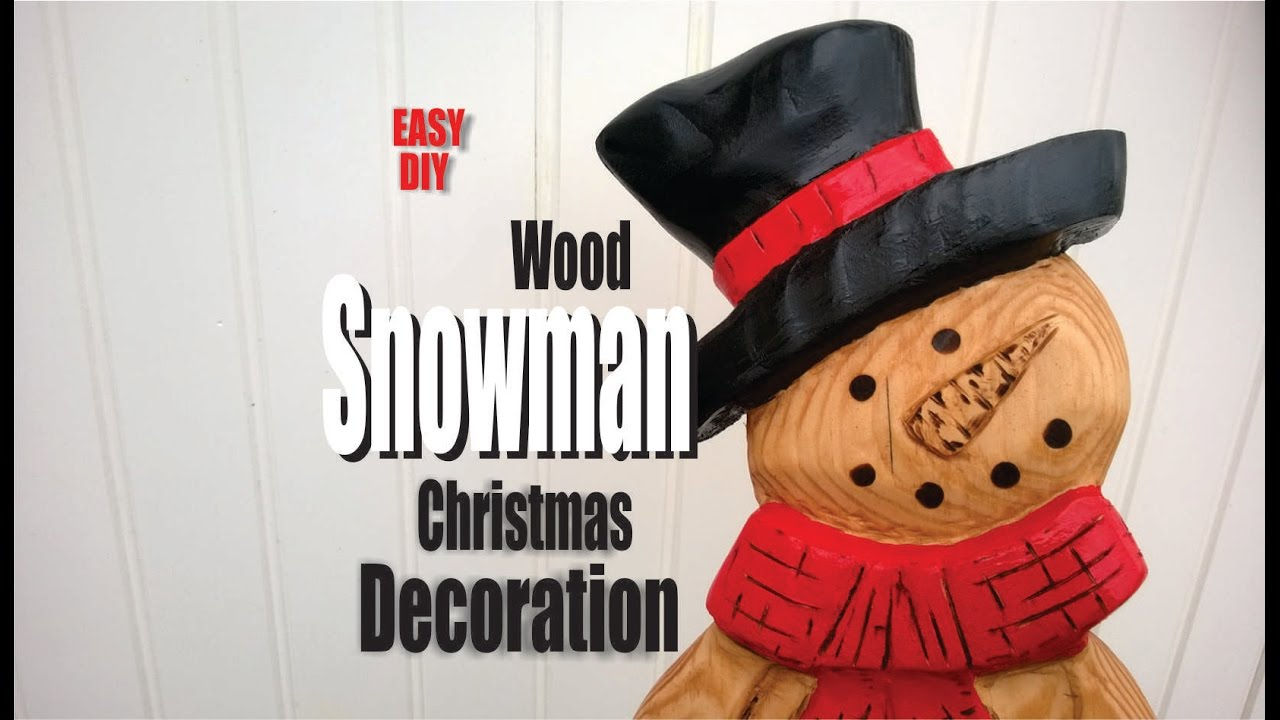 How to make a carved wood snowman with power tools youtube solutioingenieria Gallery