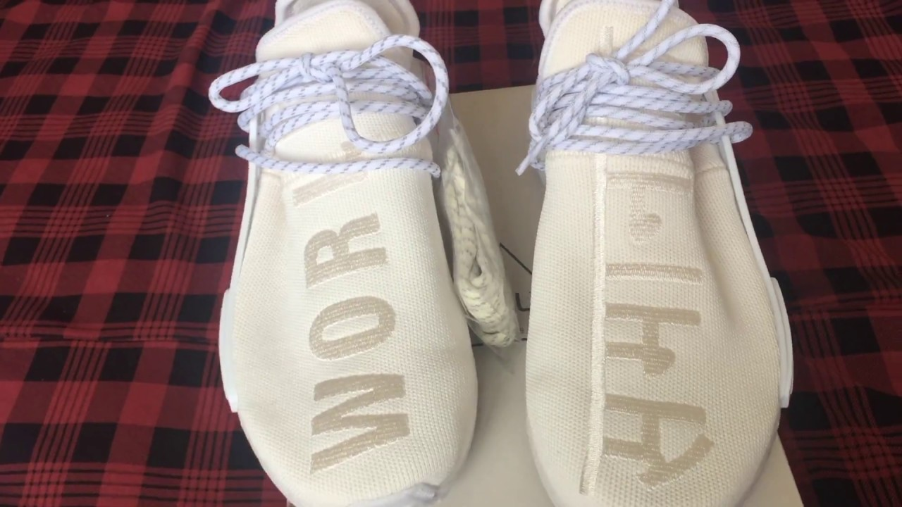 new concept 072a3 a3115 Mở hộp & Cảm nhận: Adidas NMD HUman Race Holi Blank Canvas Cream White (  Limited Release)