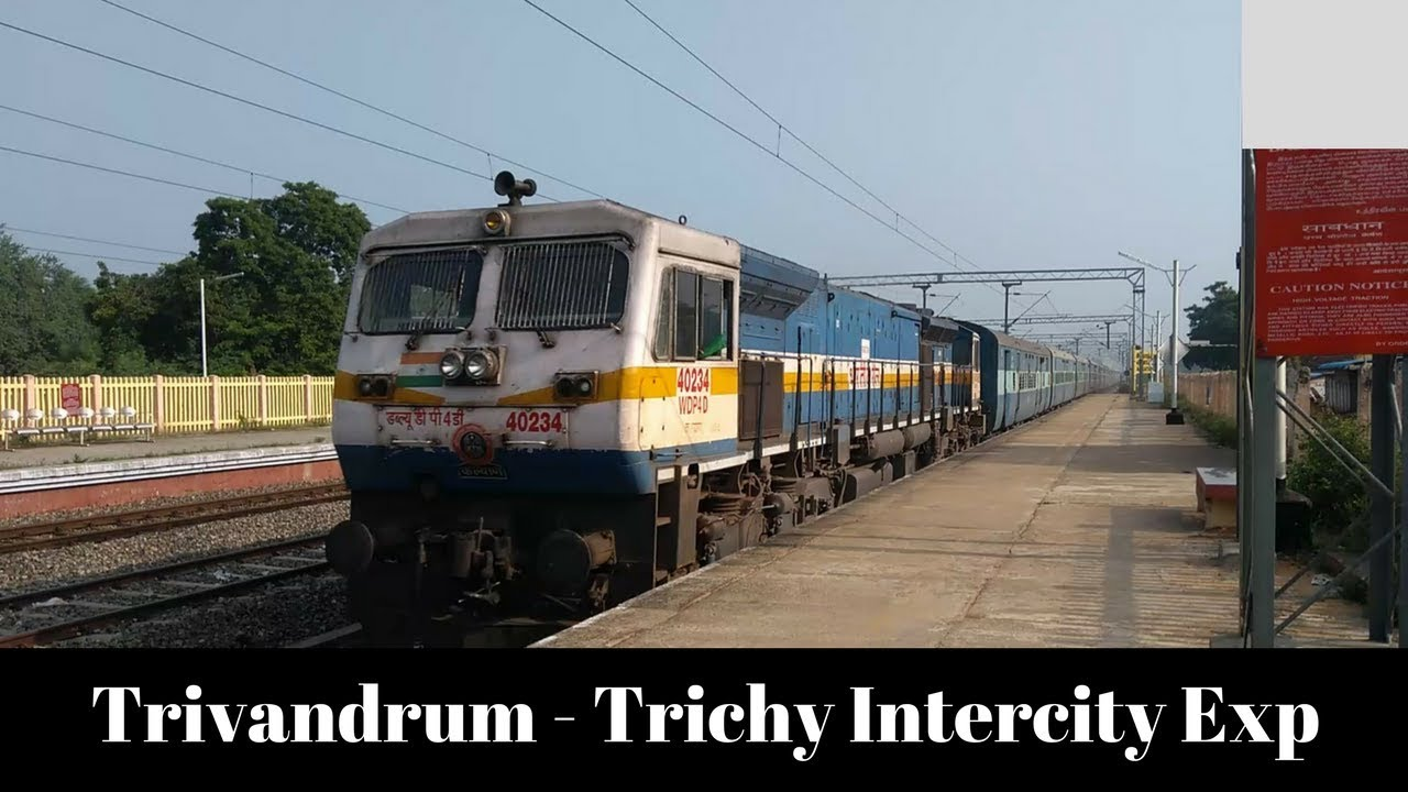 Image result for Tiruchi - Thiruvananthapuram - Tiruchi Intercity Expresses