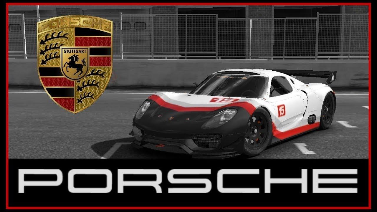 Real Racing 3 Car Customization Porsche 918 Rsr Concept Le Mans Tylo Ren