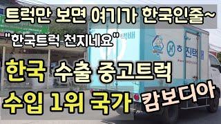 한국 수출용 중고트럭 수입 1위 국가 캄보디아~ 한국수…