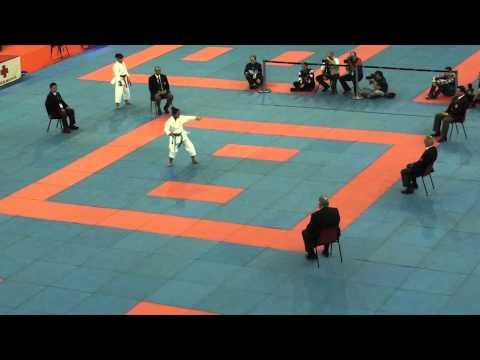 WKF World Jr Karate Championships 2013 Female Cadet kata Final Japan vs USA