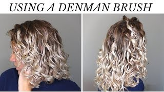 How to use the Denman Brush on 2b3a Curls | Wet to Dry Routine