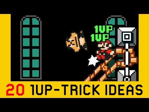 20 1-UP Trick Ideas / Set-ups | Super Mario Maker 2