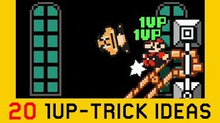 20 1-UP Trick Ideas / Set-ups | Super Mario Maker 2