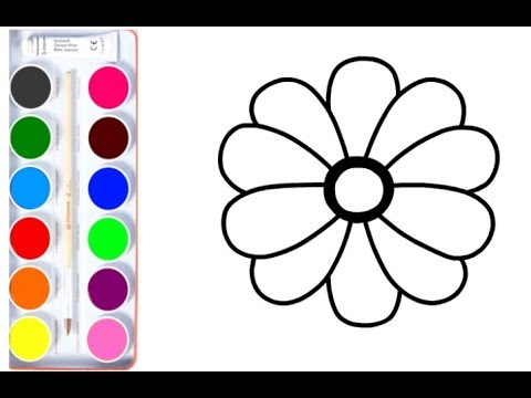 flower-coloring-pages-|-drawing-for-kids