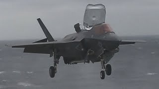 HISTORIC DEPLOYMENT! F-35B Lightning IIs perform DECK LANDING qualifications on the USS Wasp!