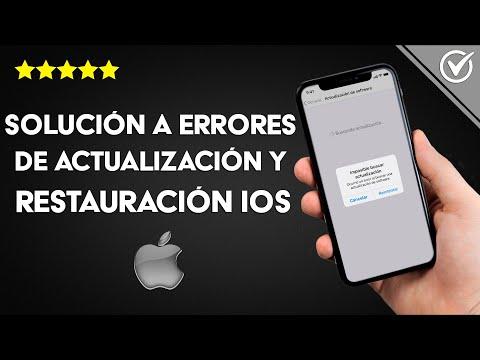 Cómo Solucionar Problemas y Errores Comunes de Actualizaciones y Restauración en iOS