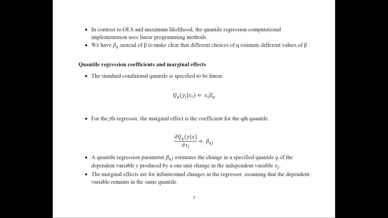 Econometrics  Quantile Regression