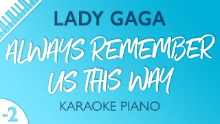 Baixar Always Remember Us This Way (Lower Key - Piano Karaoke) Lady Gaga