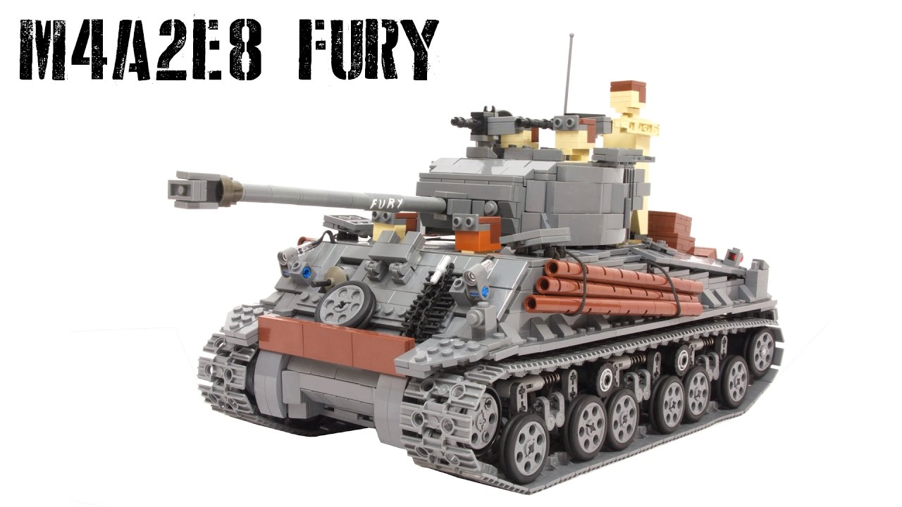 Lego RC M4A2E8 FURY Sherman Tank (with instuctions) - YouTube